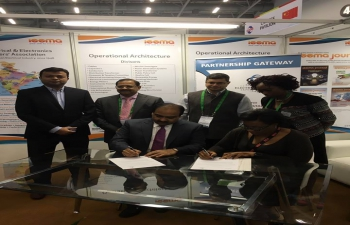 MoU between IEEMA and SAEEC signed in the presence of CG India in South Africa (Consulate General of India, Capetown)'s photo