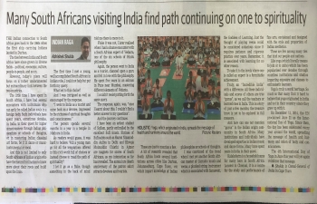 The ties that bind people and nations- Article by Consul General Abhishek Shukla in the Cape Times of May 18, 2018