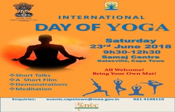 International Day of Yoga, 23 June 2018