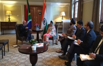Minister of Food and Processing Industries Mrs. Harsimrat Kaur Badal's visit to Cape Town.
