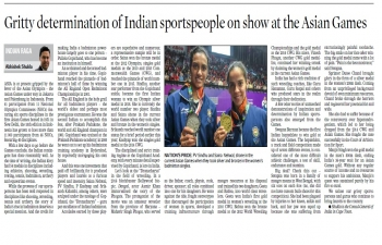 Consul General Abhishek Shukla writes in Cape Times of Aug 31 about the accomplishments of Indian sportspersons and the 'Dronacharyas' (teachers) in the 18th Asian Games in Indonesia.