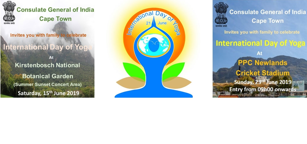 Consulate General of India, Cape Town invites you for International Day of Yoga celebrations