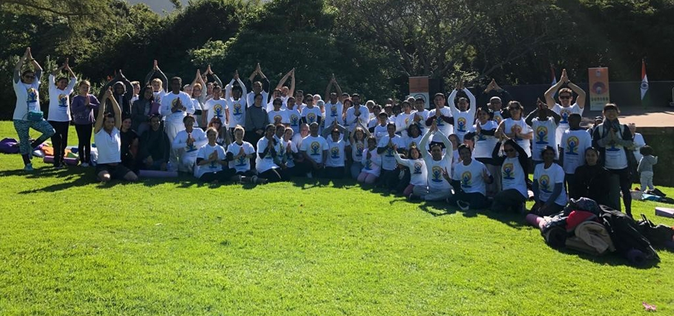 Celebration of International Day of Yoga-2019 at Kirstenbosch National Botanical Garden