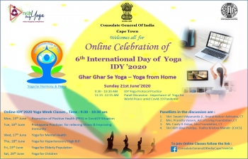 International Yoga Day- 21st June 2020 Celebration and Yoga Week programmes