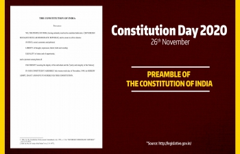 Celebration of Constitution Day of India, 26 November 2020